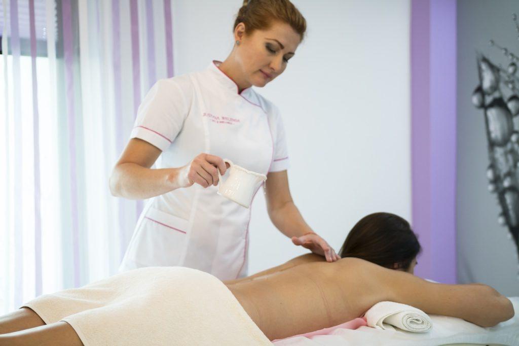 massage avec huile
